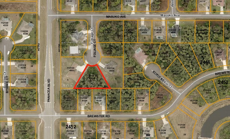 Buy and Sell Real Estate in North Port, Florida | Prime North Port Lots | Map of our buildable lots for sale in North Port, FL.